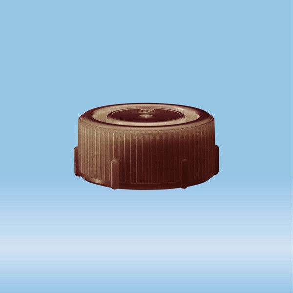 Screw cap, brown, suitable for protective container 85 x 30 mm