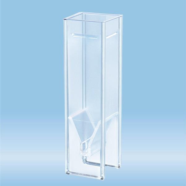 UV cuvette, 2 ml, (HxW): 45 x 12 mm, special plastic, transparent, optical sides: 2