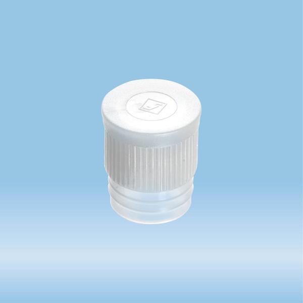 Push cap, transparent, suitable for tubes Ø 16-17 mm