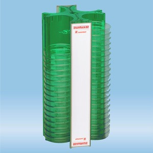 DishRack, height: 370 mm, green, for 88 petri dishes with 92mm diameter