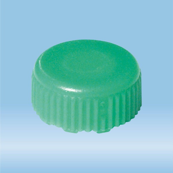 Screw cap, green, suitable for screw cap micro tubes