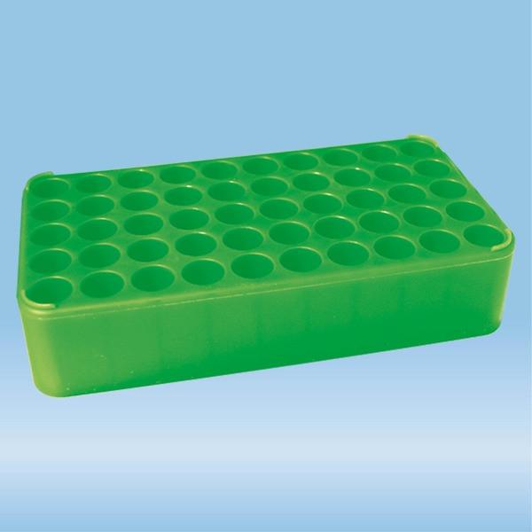 S-Monovette® rack D17, Ø opening: 17 mm, 10 x 5, green