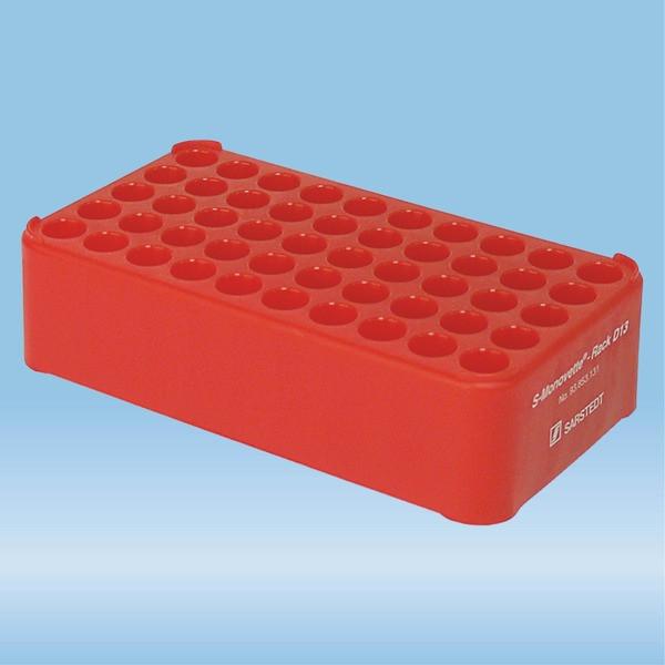 S-Monovette® rack D13, Ø opening: 13 mm, 10 x 5, red