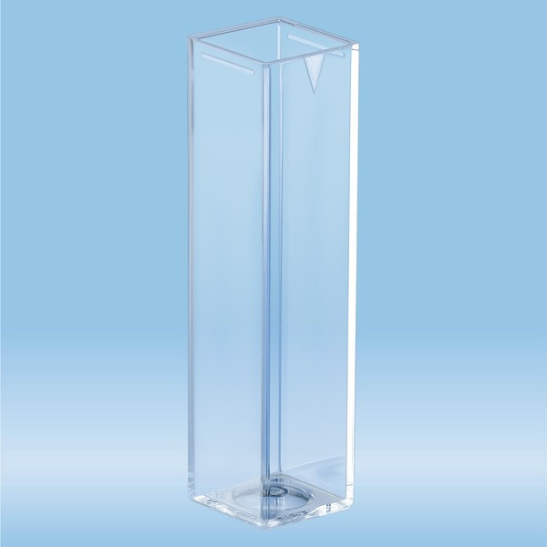 Cuvette, 4 ml, (HxW): 45 x 12 mm, PMMA, transparent, optical sides: 4