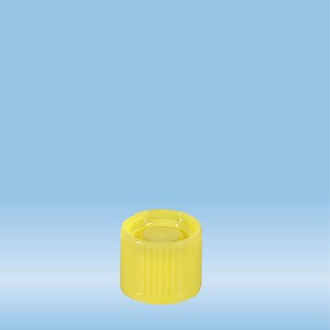 Screw cap, yellow, suitable for tubes Ø 16-16.5 mm