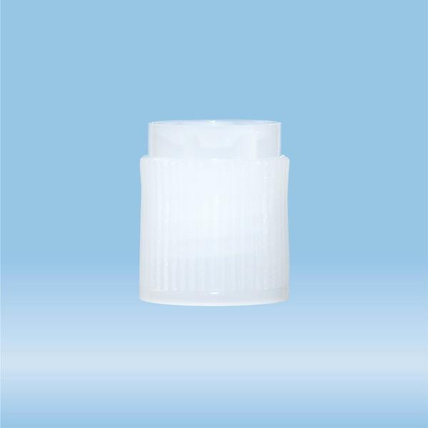 Screw cap, PE, natural, for tubes 75 x 13 mm