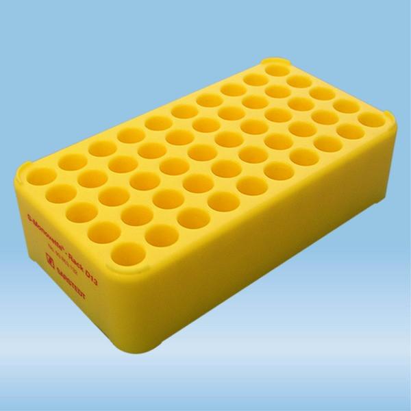 S-Monovette® rack D13, Ø opening: 13 mm, 10 x 5, yellow