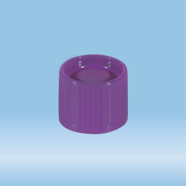 Screw cap, purple, suitable for tubes Ø 16-16.5 mm