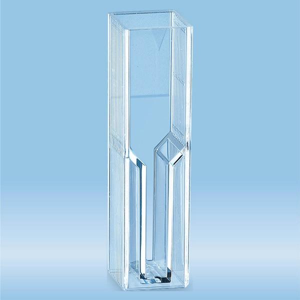 Semi-micro cuvette, 2.5 ml, (HxW): 45 x 12 mm, PMMA, transparent, optical sides: 2